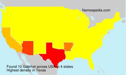 Surname Gabrhel in USA