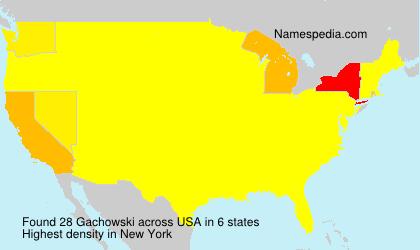 Surname Gachowski in USA