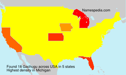 Surname Gachugu in USA
