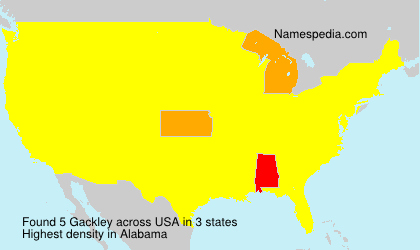 Surname Gackley in USA