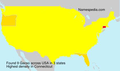 Surname Gacso in USA