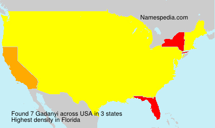 Surname Gadanyi in USA