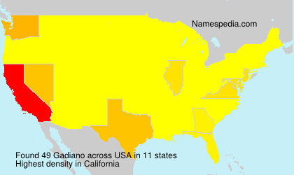 Surname Gadiano in USA