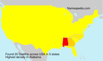 Surname Gadilhe in USA