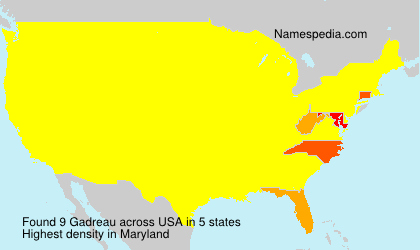 Surname Gadreau in USA