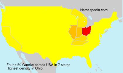 Surname Gaerke in USA
