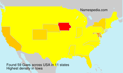 Surname Gaes in USA