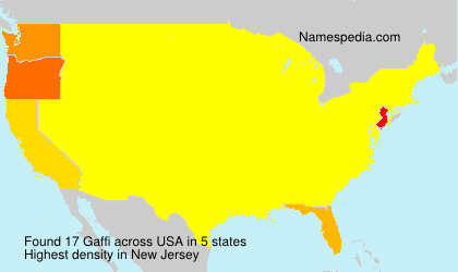 Surname Gaffi in USA