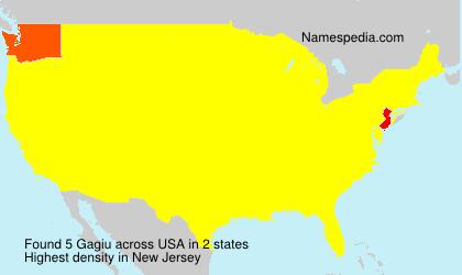 Surname Gagiu in USA