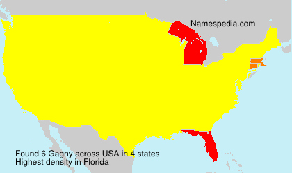 Surname Gagny in USA