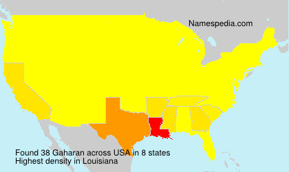 Surname Gaharan in USA