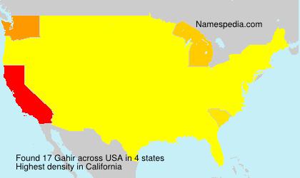 Familiennamen Gahir - USA