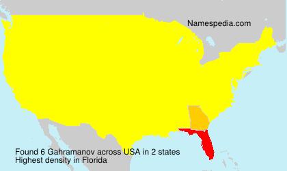 Surname Gahramanov in USA
