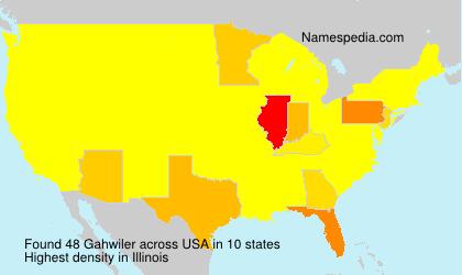 Familiennamen Gahwiler - USA