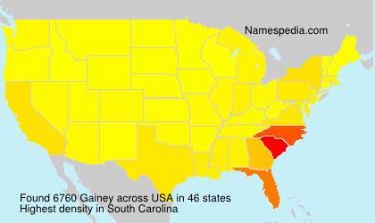 Familiennamen Gainey - USA