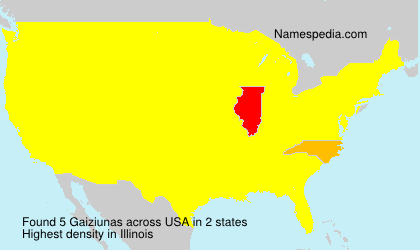 Surname Gaiziunas in USA