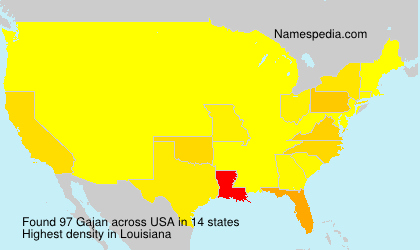 Surname Gajan in USA