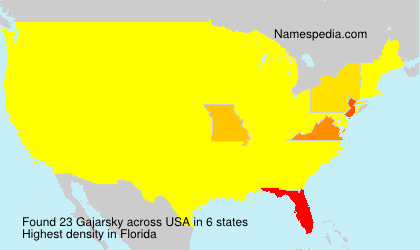 Familiennamen Gajarsky - USA