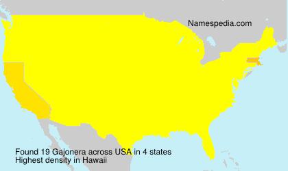 Surname Gajonera in USA