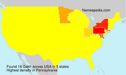 Surname Gakh in USA
