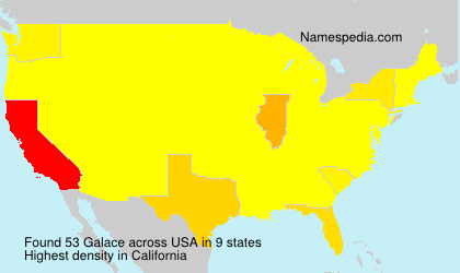 Surname Galace in USA