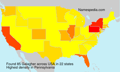 Surname Galagher in USA