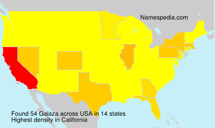 Surname Galaza in USA