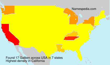 Surname Galben in USA