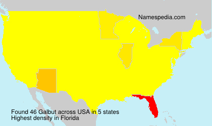 Surname Galbut in USA