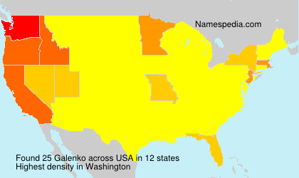 Surname Galenko in USA