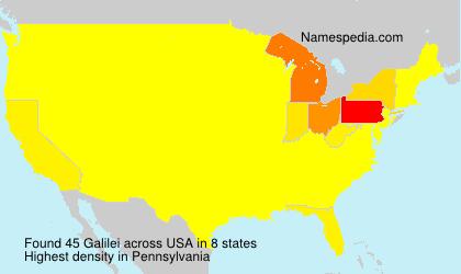 Familiennamen Galilei - USA