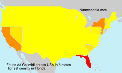 Surname Galimidi in USA