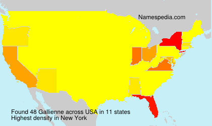 Surname Gallienne in USA
