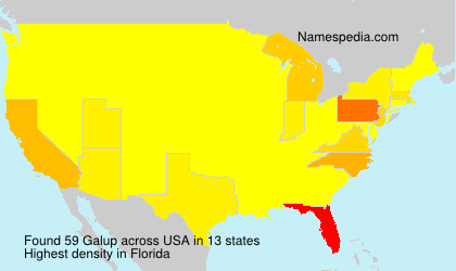 Surname Galup in USA