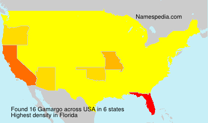 Surname Gamargo in USA