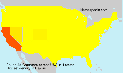 Surname Gamatero in USA