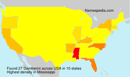 Surname Gamberini in USA