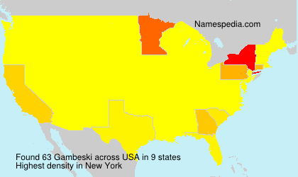 Surname Gambeski in USA