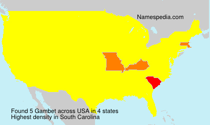 Surname Gambet in USA