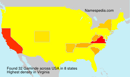 Surname Gaminde in USA