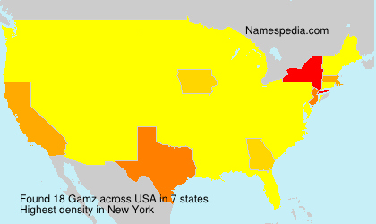 Surname Gamz in USA