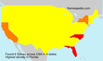 Familiennamen Ganau - USA