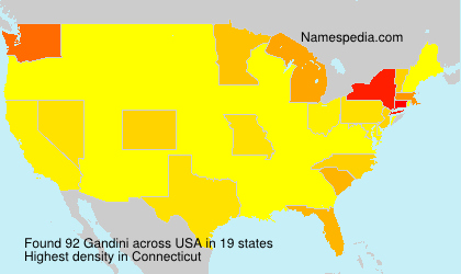 Surname Gandini in USA