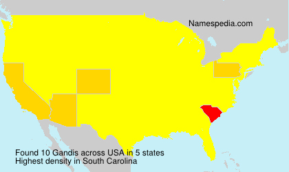 Surname Gandis in USA