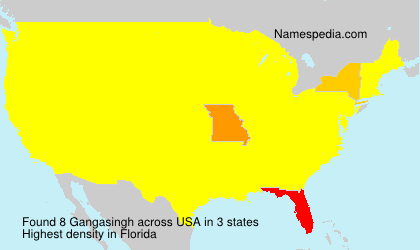 Surname Gangasingh in USA