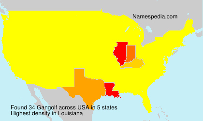 Surname Gangolf in USA