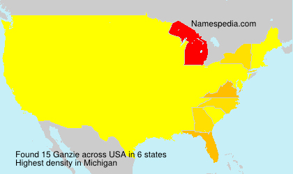 Surname Ganzie in USA