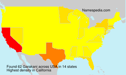 Surname Garakani in USA