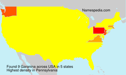 Surname Garanina in USA