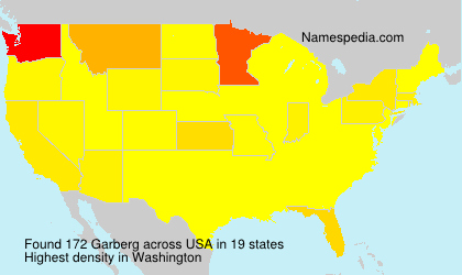Surname Garberg in USA